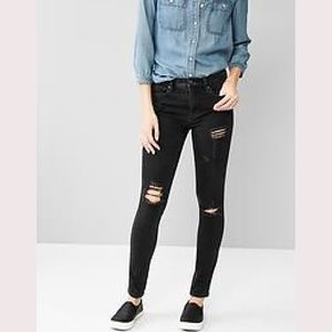 GAP Destructed Girlfriend Jeans